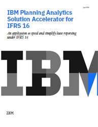 IBM Planning Analytics Solution Accelerator for IFRS 16
